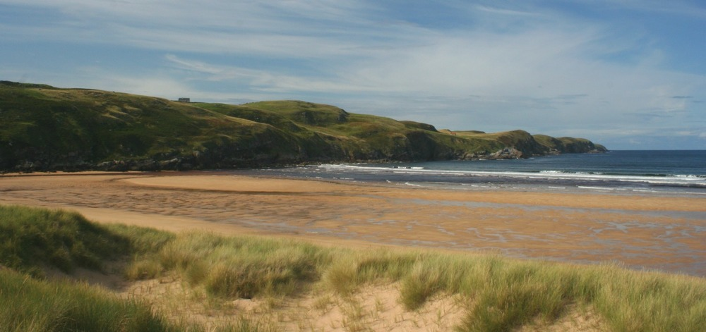 The sands at Strathy Bay on the far north coast